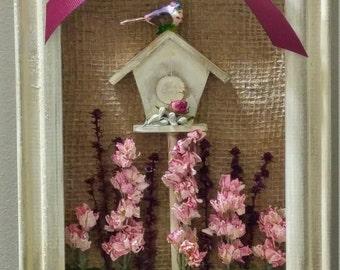 Garden Birdhouse Shadowbox