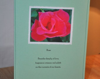 rose Paper Stitches notecard