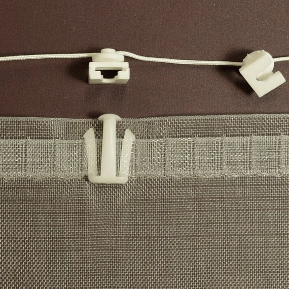 Carriers And Hooks For Ripplefold Drapery Curtain By