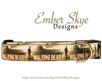 """The Walking Dead (Style 1) Adjustable Dog Collar - 1"""" wide"""