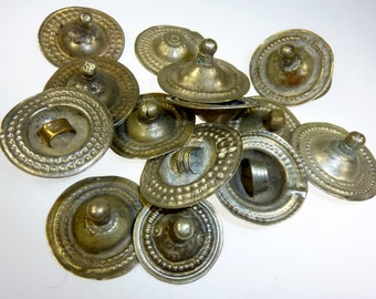 Tribal Buttons, Vintage, Set of 10 Pieces Tribal Buttons, Kuchi-Buttons, Kuchi Tribal-Buttons