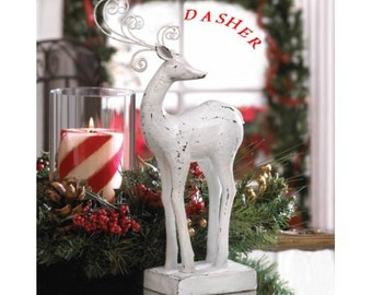 Shabby chic Comet or dasher Reindeer Statue