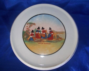 Welsh Costumes Teapot Stand Hand Painted