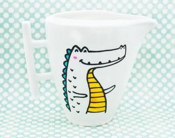 Milk pot with Crocodile