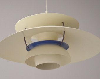 Danish Mid-century designed by Poul Henningsen PH-5 pendant light retailed by Louis Poulsen, Denmark