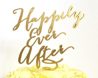 Carolyna Calligraphy Name Cake Topper By Thegildedline On Etsy