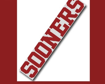 Oklahoma Sooners Inspired Scarf Crochet Graph Graphghan Pattern WITH WRITTEN INSTRUCTIONS