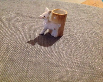 Vintage deer toothpick holder made in occupied Japan