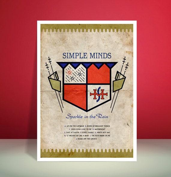 Simple Minds // Sparkle In The Rain // A3 Abstract, Pop Art, Poster Art print // Unique Art // Home Decor Art