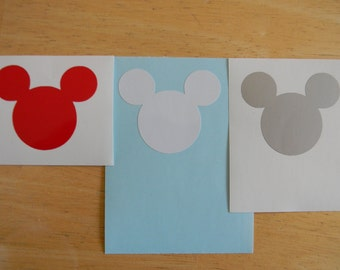Mickey Mouse Vinyl Decal Sticker Choose your Color and Size