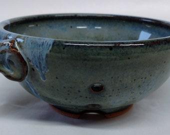 Custom hand made ceramic mini berry bowls, Ceramic colander, Fruit bowl