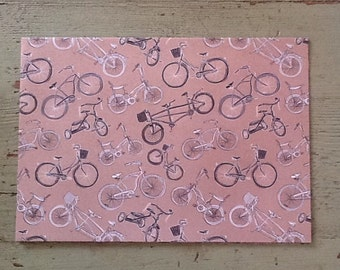 Bicycle Kraft Wrapping Paper.  Bike Paper. Bicycle Folded Wrapping Paper. Old Fashion Bicycle. Kraft Gift Wrap (68X50cm)
