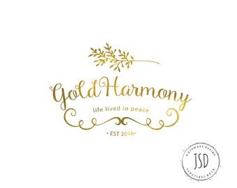 Logo Design-Gold Logo-Laurel Logo-Business Branding