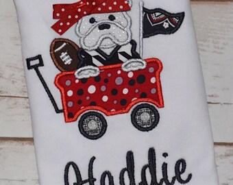 Georgia Bulldogs embroidered shirt, Personalized uga shirt, uga onesie
