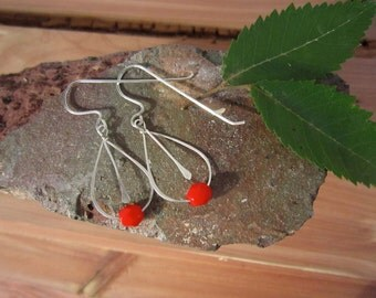 Hand-made silver earrings