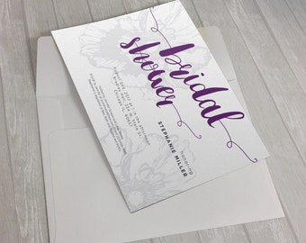 Victorian Floral Invitation Design