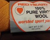 Yarn skein, dark gold worsted sport yarn, dark gold yarn skein, skein of yarn, crochet yarn, knitting yarn, supplies, knitting supplies