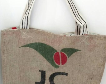 Recycled Burlap Coffee Bag Market Tote