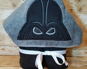 Darth Vader Star Wars Inspired Hooded Towel with FREE Embroidered Name