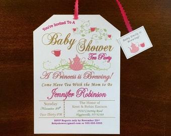 princess theme baby shower invitations etsy