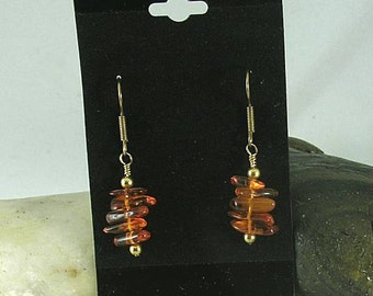 Baltic Amber Chip Stacks with Spacer Beads