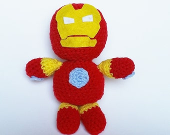 Amigurumi Crochet Iron Man Plushie