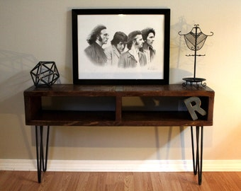 TV console, Entertainment Center, Industrial console, TV stand, Reclaimed console, Barnwood furniture, rustic