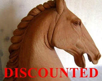 Horse head in terracotta Price lowered 33%