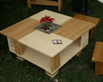 Maple, Sycamore and cherry coffee table - ref: ME06