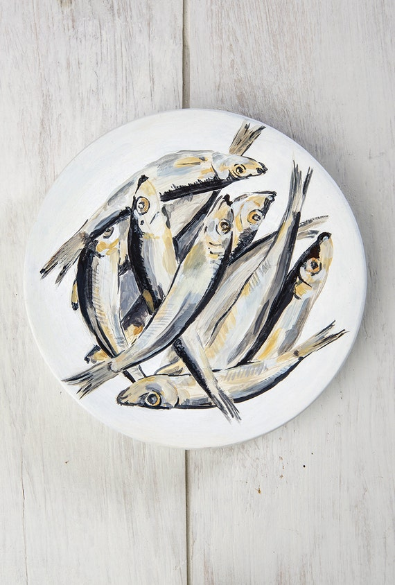 Wall Plates Home Decor : Wall plate for home decor fish set hangings decorative