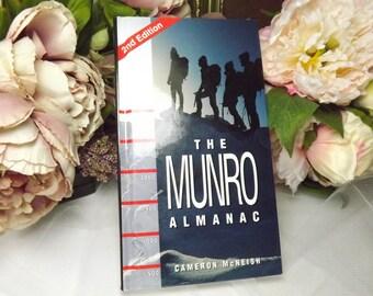 Munro, Scottish , Vintage 'Munro Almanach' Hard Back Book By Cameron Mcneish