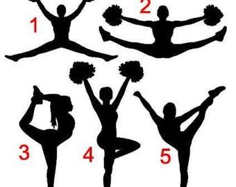 Cheerleader Decals