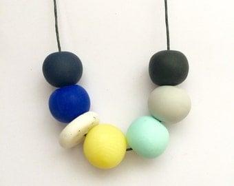 Handmade Palm Beach Polymer Clay Bead Necklace