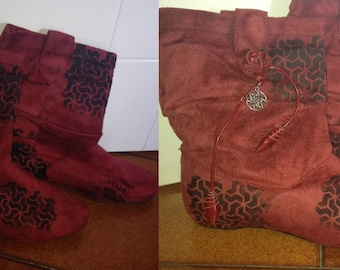 Gypsy festival boots handmade decorated!!
