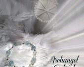 Archangel Gabriel Aquamarine Crystal Healing Bracelet: Includes Free Angel Meditation
