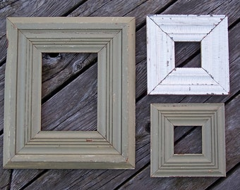 Reclaimed base board picture frames