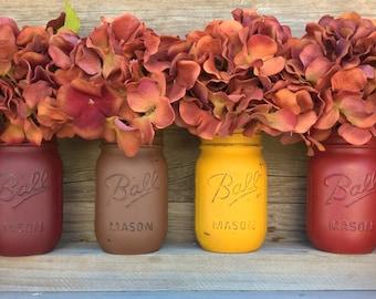 Painted Mason JarsFall DecorFall Jars Fall Home DecorMason
