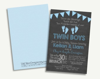 Baby Shower Digital Download - Twins Feet