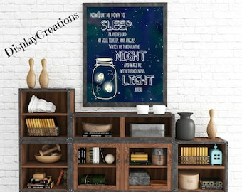 """Personalized """"Lay Me Down To Sleep"""" Wall Art"""