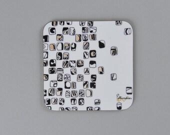 Black Mosaic Coaster