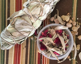 herbal loose leaf smudge blend
