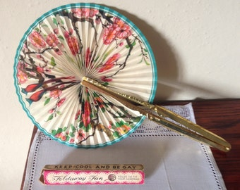 Keep Cool and Be Gay boxed Pocket Fan 1950's