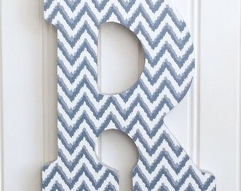 Grey Chevron Letters Etsy