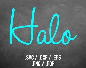 Halo Font Design Files For Use With Your Silhouette Studio Software, DXF Files, SVG Font, EPS Files, Svg Fonts, Curly Silhouette