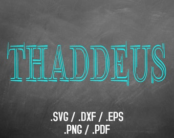 Thaddeus Font Design Files For Use With Silhouette Studio Software, DXF Files, SVG Font, EPS Files, Png Font, Cute and Fun Font Silhouette