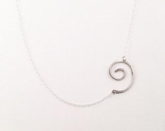 Asymmetrical Spiral Necklace
