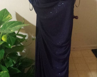 formal midnight  blue floor length gown size 14w