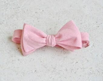 Peach Blush Linen Bow Ties