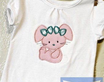 Baby Girls Easter Shirt- Easter Bunny Shirt- Personalized Easter Shirt- Toddler Girls Easter Shirt- Bunny Shirt Size 24m Ready to Ship