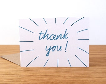 Thank You card // Hand Lettered Cards // Cute Simple Thanks